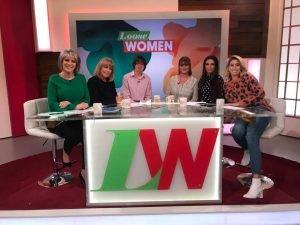 AShley appeared on ITV Loose Women
