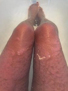 Psoriasis story ~ Ahila's morning routine of soaking in Epsom salts while meditating.