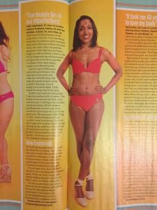 Psoriasis story ~ Feature in Woman magazine - raising awareness around body positivity