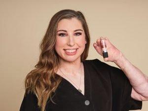Catrin Pugh and Avon cosmetics