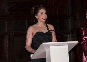 Catrin Pugh making a speech